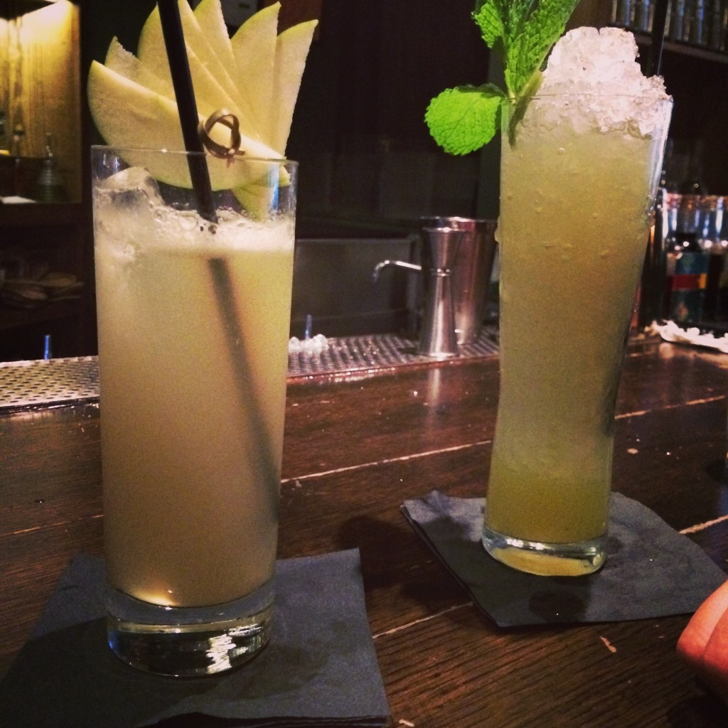 Left: East of Eden, Right: Chartreuse Swizzle