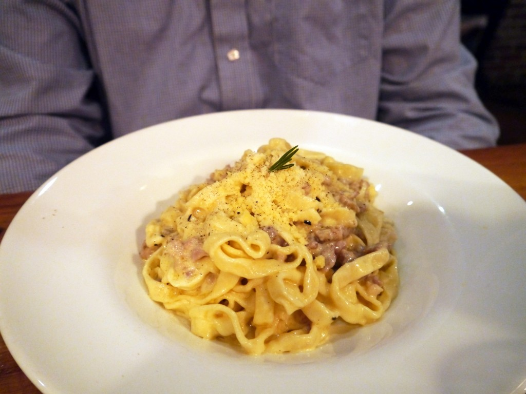 Tagliatelle with rosemary and fennel sausage