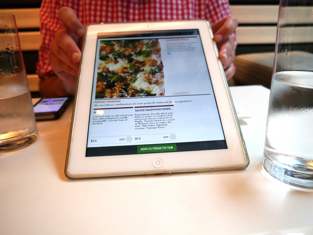 iPad Ordering - This is the way of the future, people!